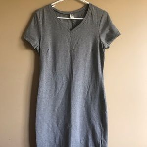Gray body con dress